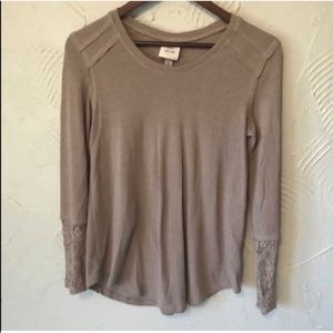 Women's Knox Rose Boho Tan Lace Sweater